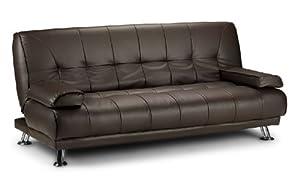 Venice Sofa Bed [FAUX LEATHER; BLACK]