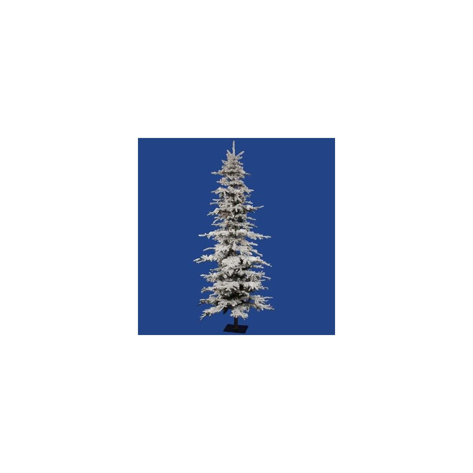 Vickerman A101262 Flocked Georian Fir 72 Artificial Christmas Tree