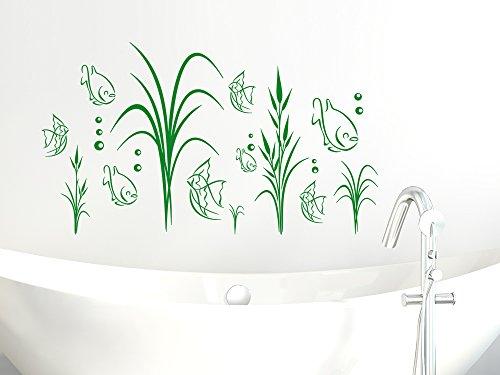 Wandtattoo fische aquarium f r badezimmer wanddekoration for Badezimmer wanddekoration