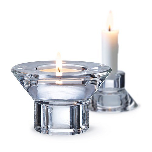 Tea Light and Candle Stick Dual Function Glass Candle Holder