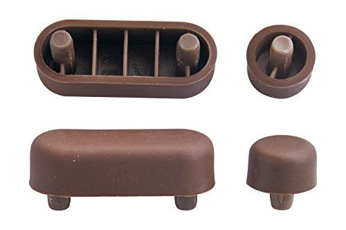 WC-Sitz-Puffer Nr. 13 | Auflagestopfen für Toilettensitz | Abstandhalter für WC-Brille | Dämpfer | Weiß | Kunststoff