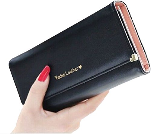 WangsAura Lady Women Retro Purses Hit Color Wallets