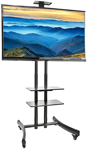VIVO TV Cart for LCD LED Plasma Flat Panel Stand Mount w/ Mobile Wheels fits 30