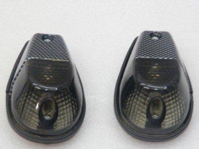 Carbon/Smoke FLUSH-Halterung verwandeln Sie Signale für Honda, Kawasaki, Suzuki, Yamaha
