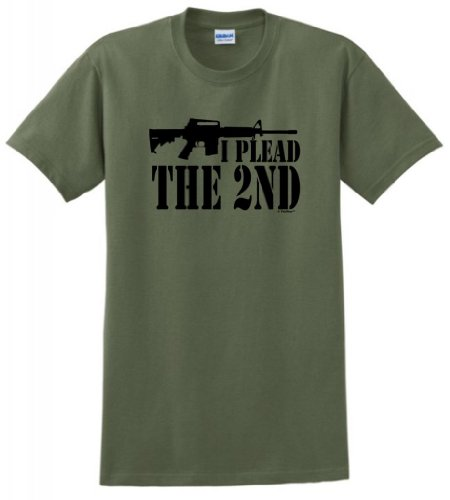 I Plead The 2Nd T-Shirt 2Xl Military Green