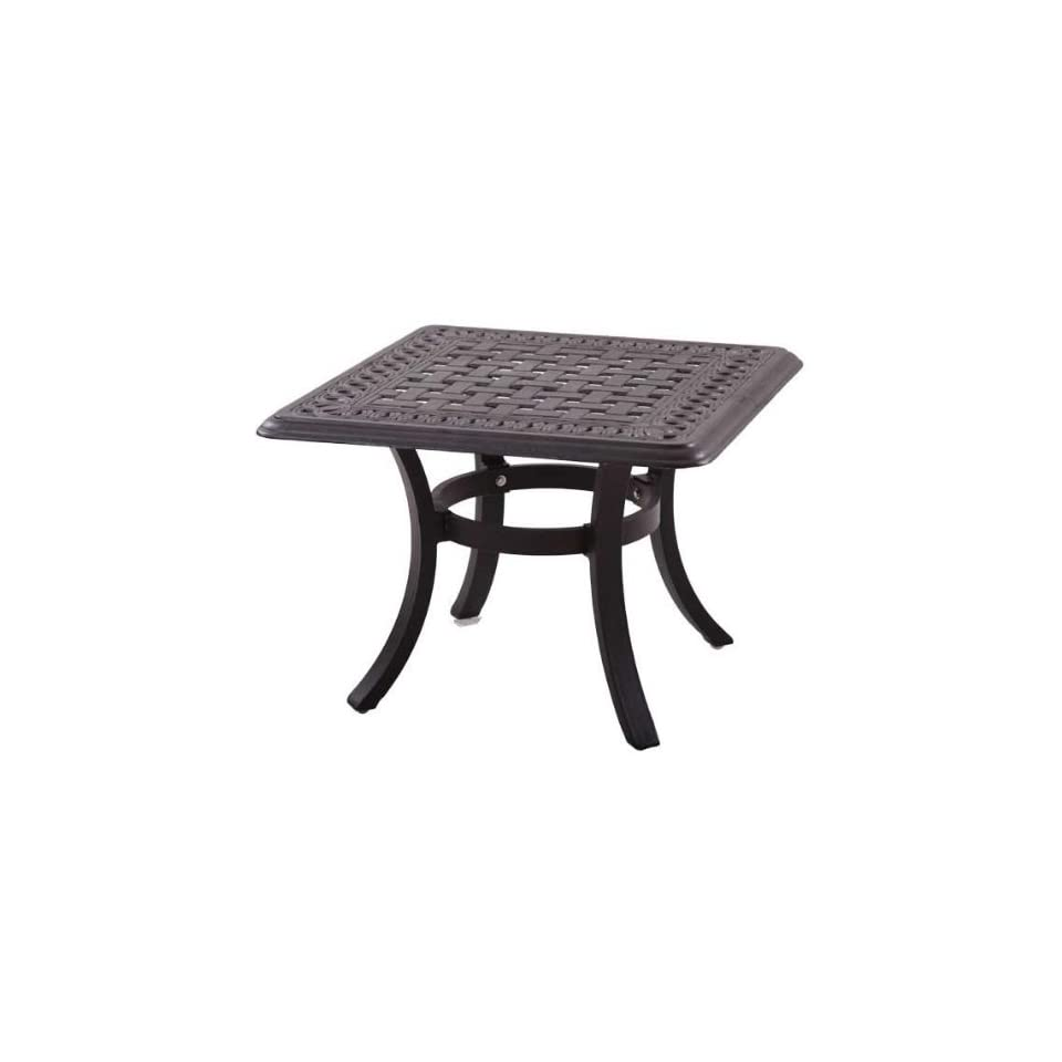 Darlee Series 88 Cast Aluminum Patio End Table   Antique Bronze