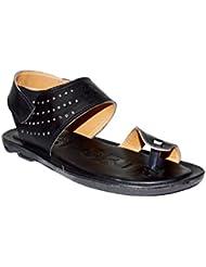 Mr. Polo Smart Black Sandals