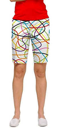Loudmouth Ladies Scribblz Golf Bermuda Shorts by Loudmouth
