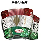 Fever F3412-MX 34 Button 12 Bass Accordion with 3 Switches on GCF Key R/W/G