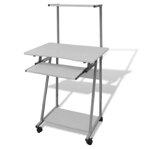 Tavolo Scrivania per Computer Laptop e Desktop Cassetto Estraibile Tavolo da Ufficio/Tavolo per Studente Finitura (Bianco)