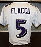 Signed Joe Flacco Jersey - White Purple Witnessed by - JSA Certified - Autographed NFL Jerseys at Amazon.com