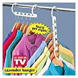 "Hampton 744003 ""Wonder Hanger"" Closet Space Saver Hanger (8 per Pack)"
