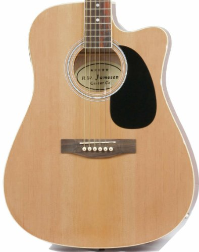 Full Size Thinline Acoustic Electric Guitar with Gig Bag Case & Picks - Natural Finish (Full Size Thinline Acoustic compare prices)