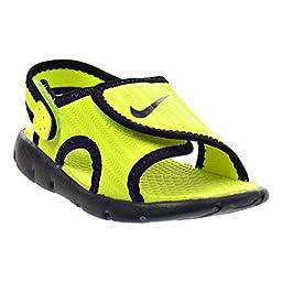 Nike Sunray Adjust 4 (TD) Toddler Sandals Volt/Black 386519-700 (9 M US)