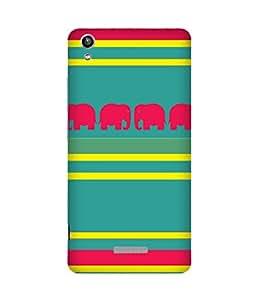 Stripes And Elephant Print (21) Lava Pixel V1 Case