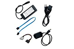 iConnect World New SATA/IDE to USB 2.0 Adapter With Power Supply Supports 2.5-Inch, 3.5-Inch, 5.25-Inch Hard Disk Drives