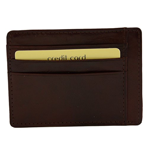 Porta Carte Di Credito In Vera Pelle 9 Scomparti Colore Moro - Pelletteria Toscana Made In Italy - Accessori