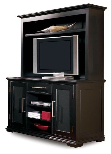 Buy Low Price Lane Entertainment Buffet w/ Entertainment Hutch by Lane – Black (11954-16R) (11954-16R)