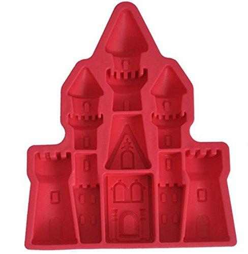SMO Cartoon Palais château de glace en forme de Cube Mold Gel