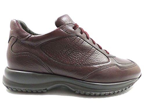 scarpe uomo SANTONI 43,5 sneakers bordeaux pelle AZ306