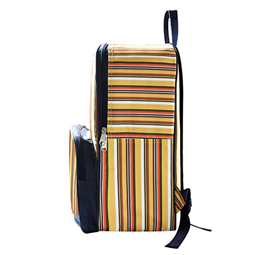 LUYADA Insulated Backpack Lunch Bag Cooler Bag, Orange & Yellow Stripe (Soft Pack Cooler Family compare prices)