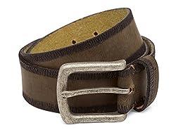Breakbounce Men's Leather Belt (8907066079716_Small_Green)