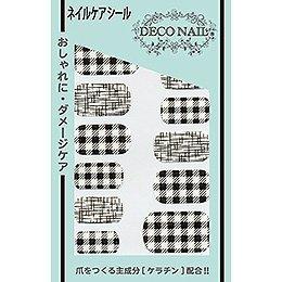 デコネイル Deco Nail DPKー002mono チェックモノトーン
