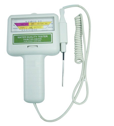 Urparcel Water Quality PH/CL2 Chlorine Tester Level Meter for Swimming Pool Spa