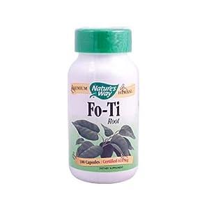 Natures Way Fo-Ti Root Capsule, 610 Mg -100 per pack -- 6 packs per case.