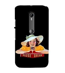 Fuson Premium Back Case Cover Pause Drink With Multi Background Degined For Motorola Moto G3::Motorola Moto G (3rd Gen)