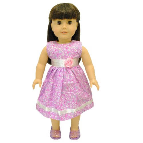 Doll Clothes - Beautiful Flower Dress Outfit Fits American Girl Doll, My Life Doll, Our Generation and other 18 inch Dolls - 1