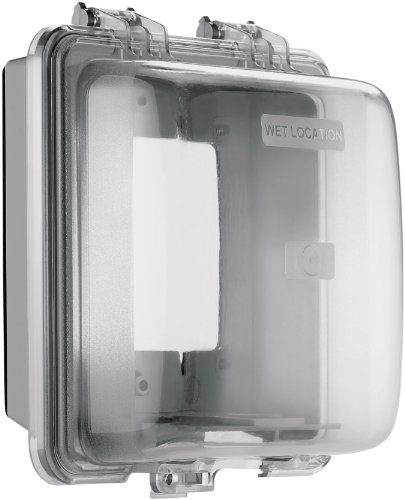 Cooper Wiring Devices Wiu-2 Weather Box Horizontal/ Vertical Mount While-In-Use Weather Protective Cover, Gray