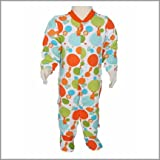 Printed Circus Collection Footed Snap Front Infant Baby Rompers. Cotton Sleep N Play Baby Pajamas. (9M)