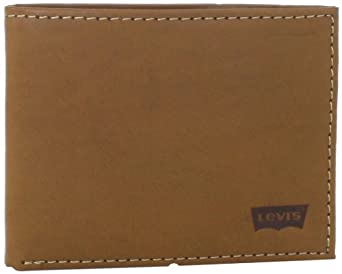 Levi's Men's Levis Slimfold Wallet With Interior Graphic, Cognac, One Size
