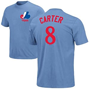 Montreal Expos Gary *KidCarter Cooperstown Player Name & Number T-Shirt (Coastal... by Majestic