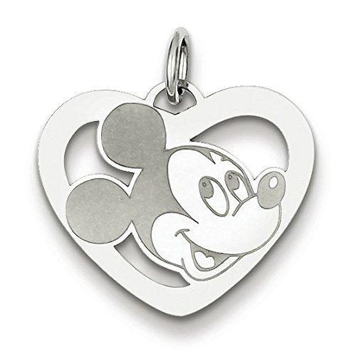 Disney Mickey Heart Pendant In Sterling Silver - Ravishing - Glossy Polish