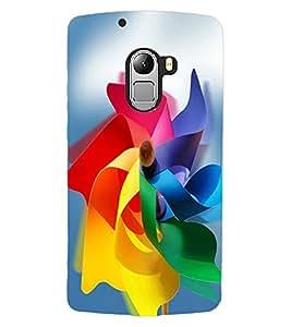 ColourCraft Colourful Paper Flower Design Back Case Cover for LENOVO VIBE X3 LITE
