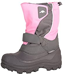 Tundra Kid\'s Quebec Snow Boot,2 W US Little Kid,Pink/Charcoal