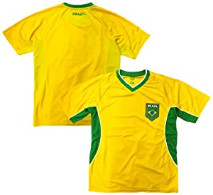 Buy Brazil Soccer Yellow Angled Panel 2014 Training Jersey by RHINOXGROUP