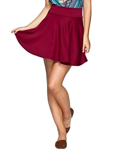 FULL TILT Skater Skirt, Burgundy, Medium (Full Skater Skirt compare prices)