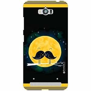 Asus Zenfone Max ZC550KL Back Cover - Silicon Black Designer Cases