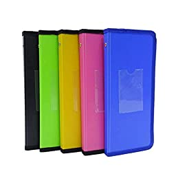 Assorted Cheque Book Folder Chequebook Organizer Slip Holder Office Supplies Pack Of 5