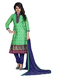 Manthan Green Embroidered Un-Stitched Suit MNTMRGREEN