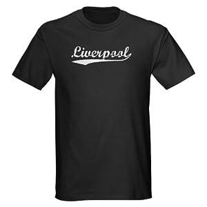 Vintage Liverpool Silver Vintage Dark T-shirt By Cafepress