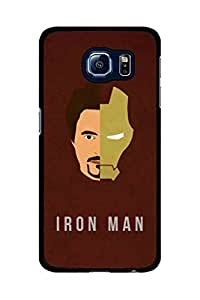 Caseque Tony Stark - Iron Man Back Shell Case Cover For Samsung Galaxy S6