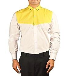 Riverbero Men's Casual Shirt (SN_BFS_229_White_38)