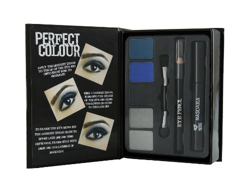 Jigsaw Perfect Colour Smoky Eyes Make Up Confezione Regalo - 8 Pezzi (Ombretto + Matita Occhi + Masc