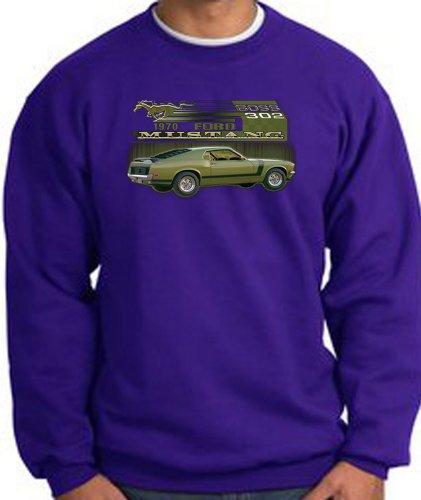 Ford Car 1970 Mustang Boss 302 Classic Adult Sweatshirt - Purple, Medium