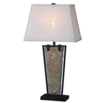 Kenroy Home 32227SL Free Fall Table Lamp, Natural Slate