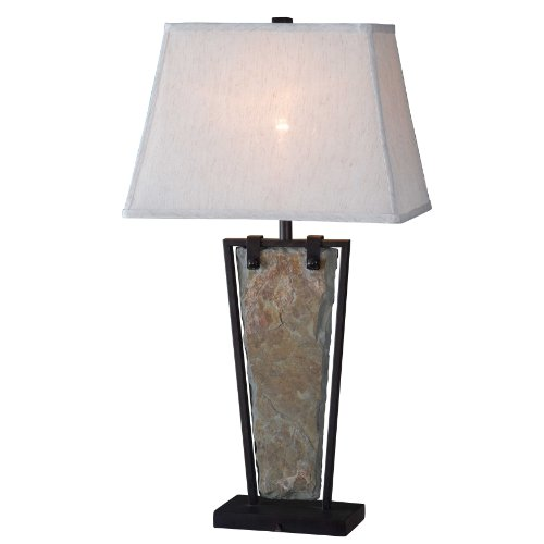 Kenroy Home 32227SL Free Fall Table Lamp, Natural Slate (Entry Table Lamp compare prices)
